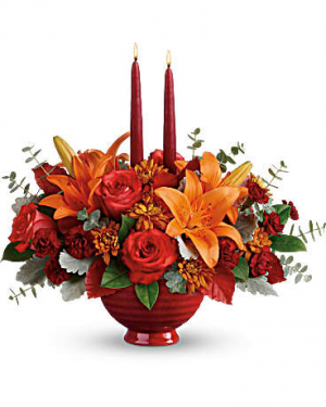 Autumn in Bloom Centerpiece Fall Arrangement in Riverside, CA | Willow Branch Florist of Riverside
