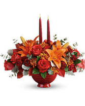 Autumn In Bloom Centerpiece Thanksgiving Centerpeice