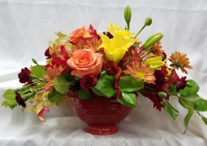 Autumn In Bloom Fresh Centerpiece In Bolivar Mo The Flower Patch
