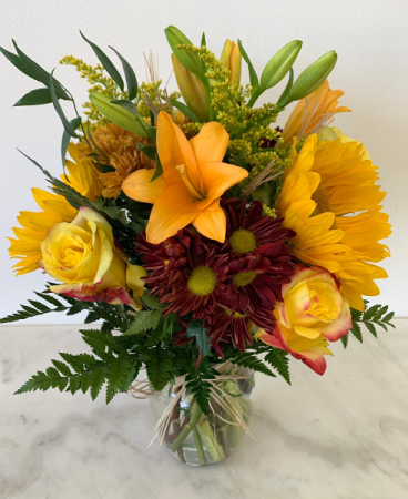Bright with yellow flowers