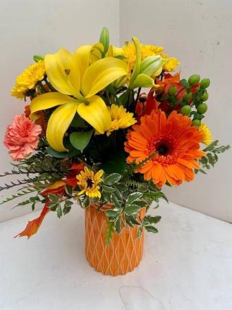 Autumn Joy Vase Arrangement