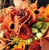 Autumn Joy Vase arrangement