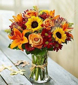 Autumn Leaves Arrangement