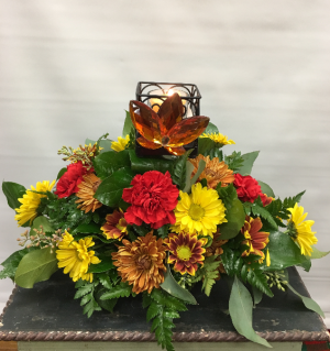 Autumn Leaves Floral Arrangement in Joliet, IL | LABO'S FLOWERS & GIFTS