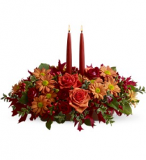Autumn Lights                     TF-WEB-456 Fresh candle arrangement