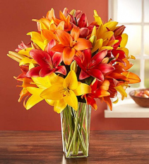Autumn Lilies Arrangement