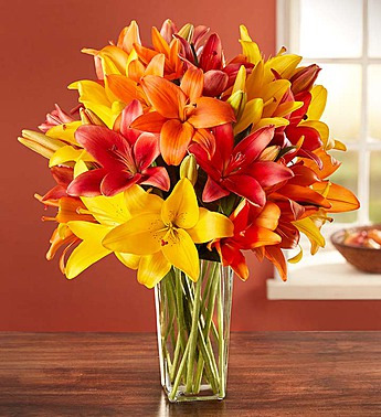 Autumn Lilies Arrangement