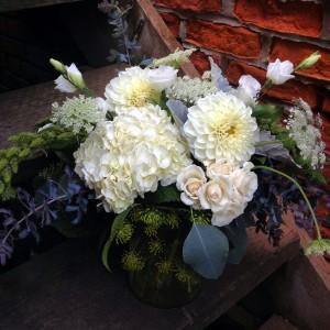 Autumn Monochromatic Vase Arrangement