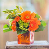 Autumn Orange Floral Arrangement