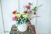 Autumn owl Vase