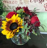 Autumn Path vase arrangement
