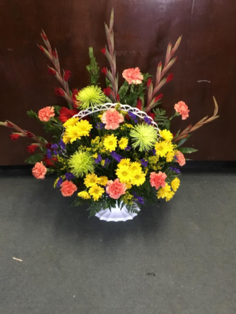 Autumn Peace Funeral Basket