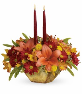 Autumn Reflections Centerpiece T12T110B  **Acacia Exclusive ** in Hesperia, CA | ACACIA'S COUNTRY FLORIST