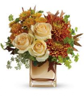 Autumn Romance Bouquet Cube