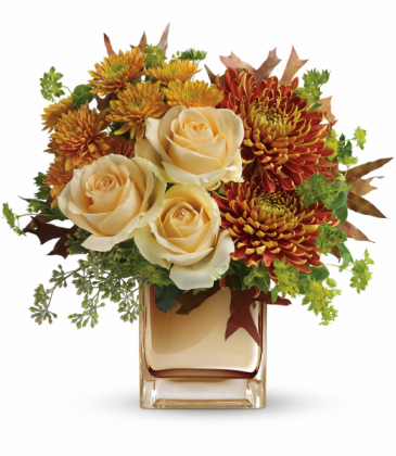 Autumn Romance Bouquet One-Sided Floral Arrangement