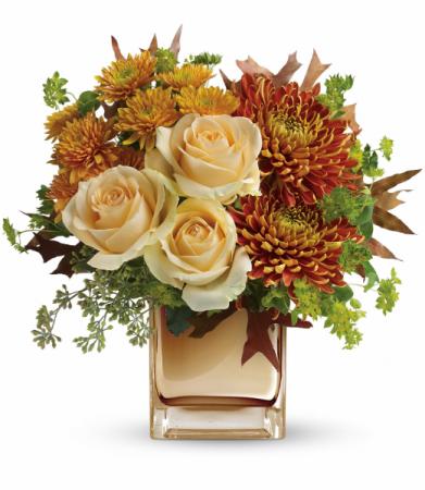 Autumn Romance Bouquet One-Sided Floral Arrangement
