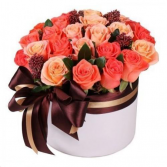 Autumn Romance Hat Box   in Ozone Park, New York | Heavenly Florist