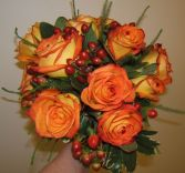 Autumn Rose Bouquet Wedding Bouquet
