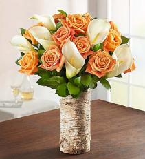 Autumn Rose & Calla Lily  Arrangement