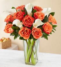 Autumn Rose & Calla Lily Arrangement