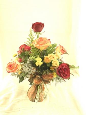 Autumn Roses Autumn arrangement