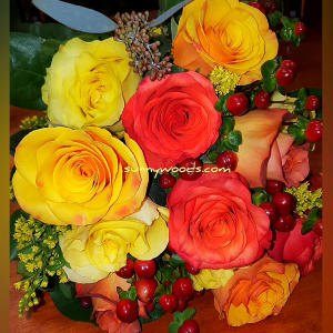 Autumn Roses Bouquet in Chatham, NJ | SUNNYWOODS FLORIST
