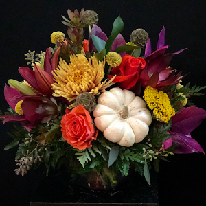 Autumn Serenade  bubble Bowl in Chesterfield, MO | ZENGEL FLOWERS AND GIFTS