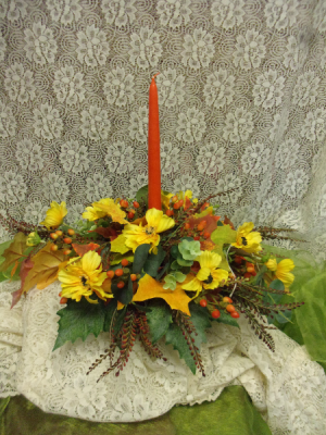 Autumn silk centerpiece Fall in Delta, OH | Calaways Flowers & Antiques
