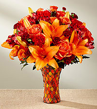 AUTUMN SPLENDOR MOSAIC VASE