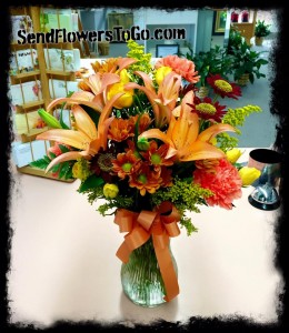 Autumn Splendor Fresh Mixed Arrangement