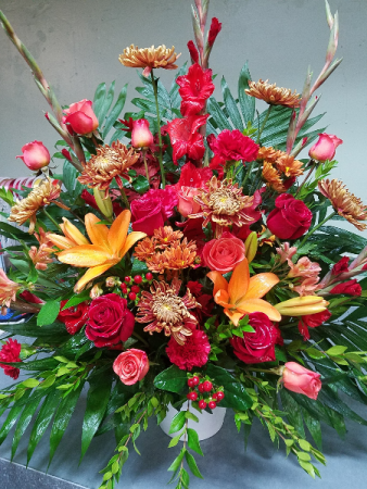 Autumn Splendor Funeral Basket