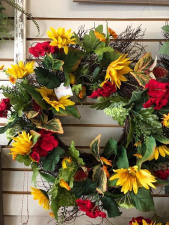 Autumn Sunflower Wreath
