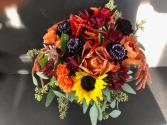 Autumn Sunset Bridal Bouquet