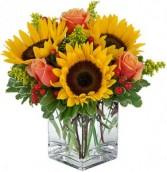 Autumn Sunset vase