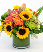 Autumn Sunset Vase arrangement