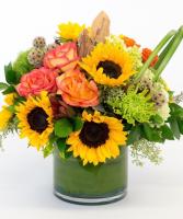 Autumn Sunset Vase arrangement