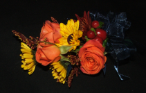 Autumn Sunset Wedding Flowers