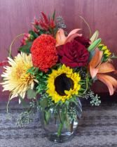 Autumn Sunshine Vase Arrangement