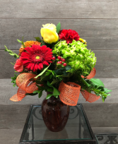Autumn tapestry Vase arrangement