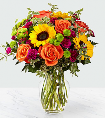 Colorful posies Vase Arrangement