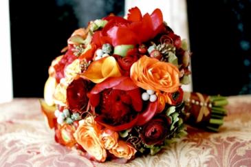 Autumn Wedding Bridal Bouquet