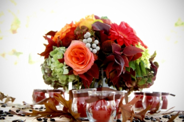 Autumn Wedding Table Centerpiece