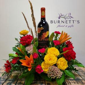 Autumn Wine Time Arrangement  in Kelowna, BC | Burnett's Florist
