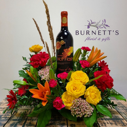 Autumn Wine Time Arrangement