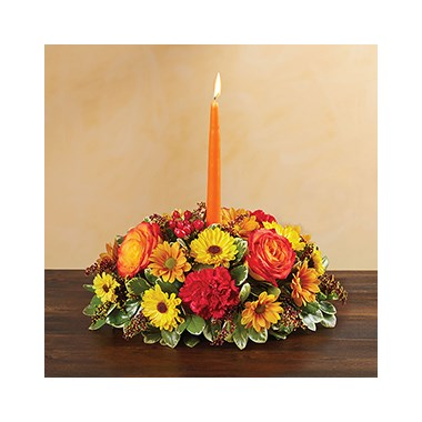 Autumn Wishes Centerpiece Floral Arrangement