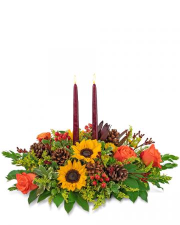 Autumnal Abundance Centerpiece Flower Arrangement