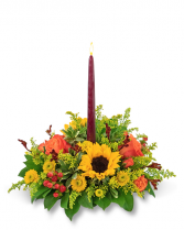 Autumnal Equinox Centerpiece Flower Arrangement