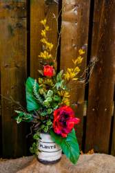 Autumnal High Style Silk High Style Arrangement