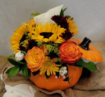 Autumnal Pumpkin Fresh Floral