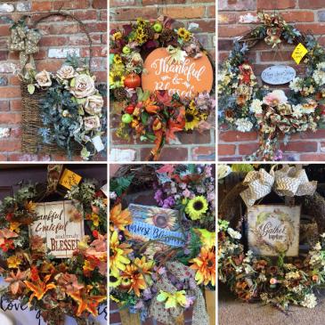 Autumnal Wreaths  Artificial